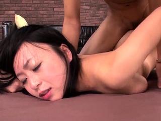 Nozomi Hazuki removes undies - More to hand 69avs.com