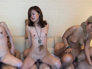 Three Jav Amateurs Fuck In A Row On The Phrase Uncensored